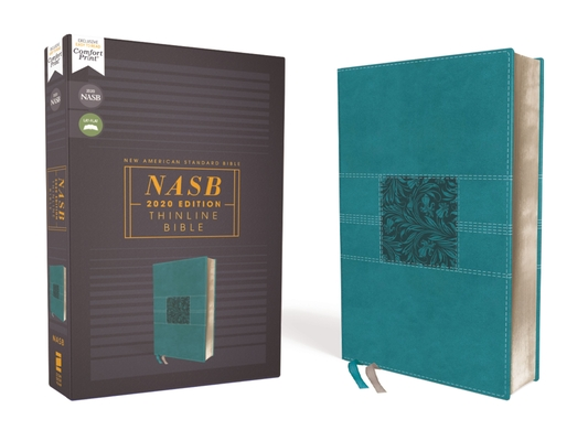 Nasb, Thinline Bible, Leathersoft, Teal, Red Letter Edition, 2020 Text, Comfort Print Cover Image