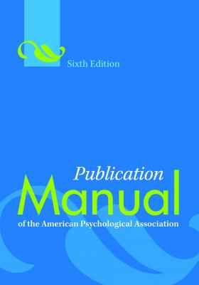 Publication Manual of the American Psychological Association(r) Cover Image