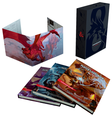 Dungeons & Dragons Core Rulebooks Gift Set (Special Foil Covers Edition with Slipcase, Player's Handbook, Dungeon Master's Guide, Monster Manual, DM Screen) Cover Image