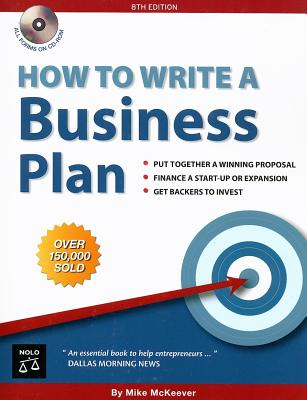How to Write a Business Plan [With CDROM] Cover Image