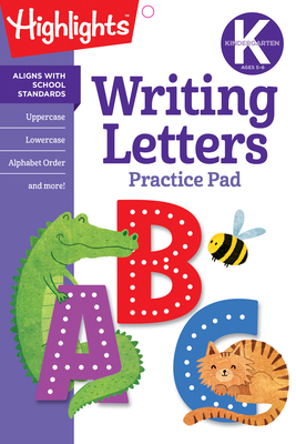 Kindergarten Writing Letters (Highlights Learn on the Go Practice Pads) Cover Image