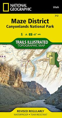 Maze District: Canyonlands National Park (National Geographic Trails Illustrated Map #312) Cover Image