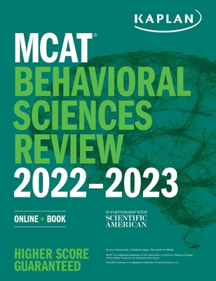 MCAT Behavioral Sciences Review 2022-2023: Online + Book (Kaplan Test Prep) Cover Image