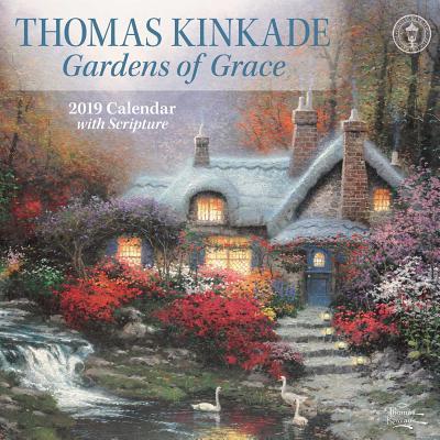Thomas Kinkade Gardens of Grace 2019 Wall Calendar Cover Image