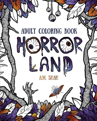 Adult coloring book: Horror Land Cover Image