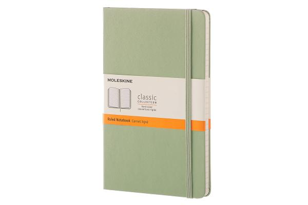 Moleskine Classic Notebook, Large, Ruled, Willow Green, Hard Cover (5 x 8.25) Cover Image