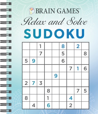 Brain Games - Relax and Solve: Sudoku (Blue) Cover Image