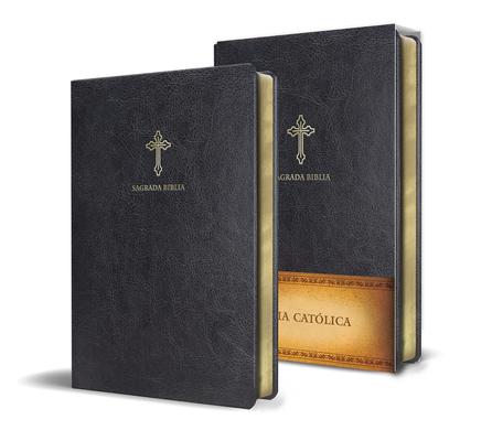 Biblia Católica en español. Símil piel negro, tamaño compacto / Catholic Bible. Spanish-Language, Leathersoft, Black, Compact Cover Image