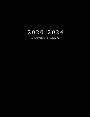 2020-2024 Monthly Planner: Large Five Year Planner with Black Cover Cover Image