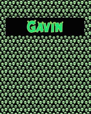 120 Page Handwriting Practice Book with Green Alien Cover Gavin: Primary Grades Handwriting Book Cover Image