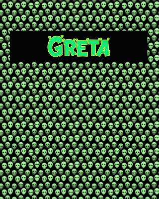 120 Page Handwriting Practice Book with Green Alien Cover Greta: Primary Grades Handwriting Book Cover Image
