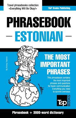 English-Estonian phrasebook & 3000-word topical vocabulary Cover Image