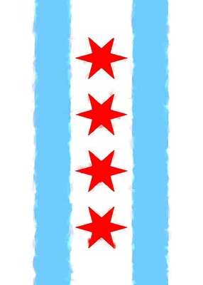 Chicago Flag Watercolor Sketch Journal Cover Image