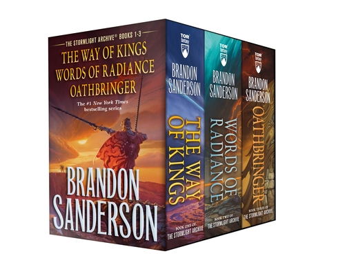 Stormlight Archive MM Boxed Set I, Books 1-3: The Way of Kings, Words of Radiance, Oathbringer (The Stormlight Archive) Cover Image
