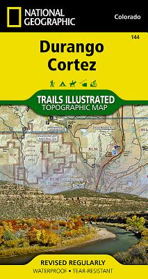 Durango, Cortez (National Geographic Trails Illustrated Map #144) Cover Image