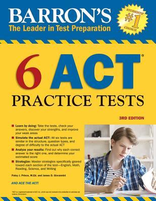 6 ACT Practice Tests (Barron's Test Prep) Cover Image