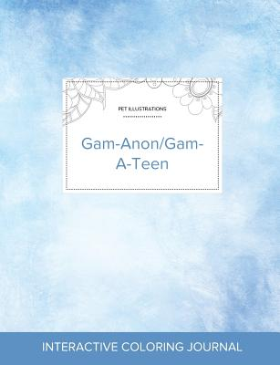 Adult Coloring Journal: Gam-Anon/Gam-A-Teen (Pet Illustrations, Clear Skies) Cover Image