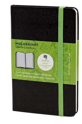 Moleskine Evernote Smart Notebook, Large, Squared, Black, Hard Cover (5 x 8.25) (Evernote Smart Notebooks) Cover Image