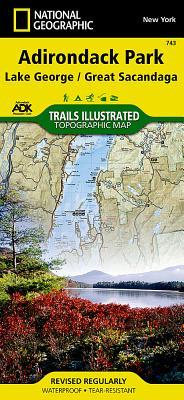 Lake George, Great Sacandaga: Adirondack Park (National Geographic Maps: Trails Illustrated #743) Cover Image