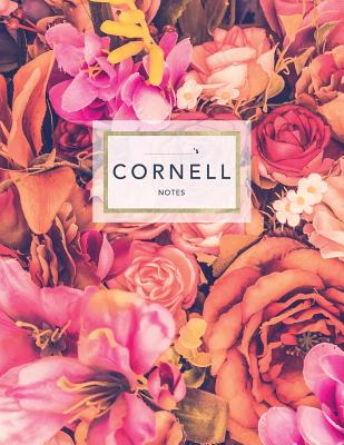 Cornell Notes: Floral Roses - 120 White Pages 8.5x11