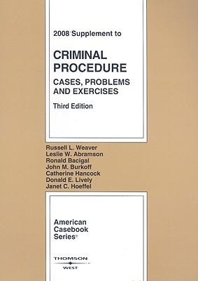 Criminal Procedure Supplement: Cases, Problems & Exercises Cover Image