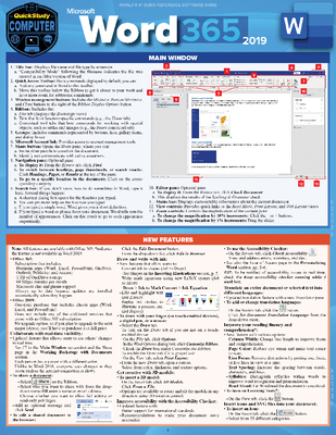 Microsoft Word 365 - 2019: A Quickstudy Laminated Software Reference Guide Cover Image