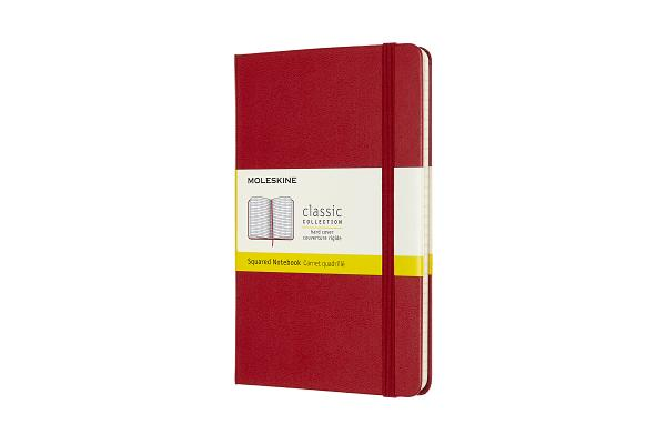 Moleskine Notebook, Medium, Squared, Scarlet Red, Hard Cover (4.5 x 7) Cover Image