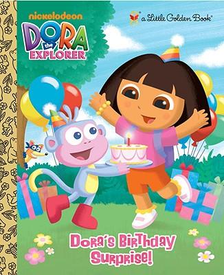 Dora's Birthday Surprise! (Dora the Explorer) (Little Golden Book) Cover Image