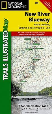 New River Blueway (National Geographic Maps: Trails Illustrated #773) Cover Image