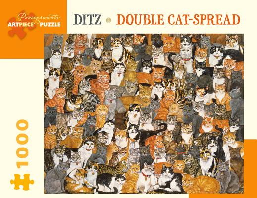 Ditz Double Cat-Spread 1000 Piece Jigsaw Puzzle Cover Image