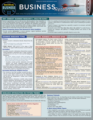 Business Research: A Quickstudy Laminated Reference Guide Cover Image