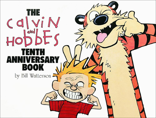 Calvin and Hobbes Tenth Anniversary Book Cover Image