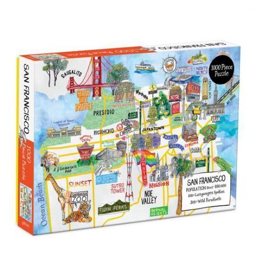 San Francisco 1000 Piece Puzzle Cover Image