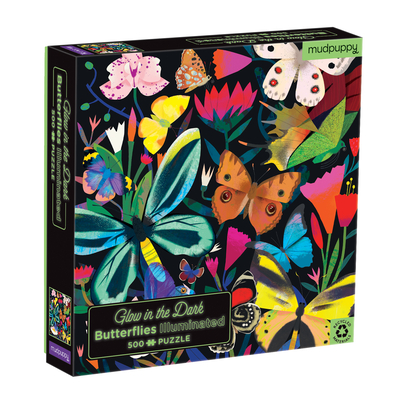 Butterflies Illuminated 500 Piece Glow in the Dark Family Puzzle Cover Image