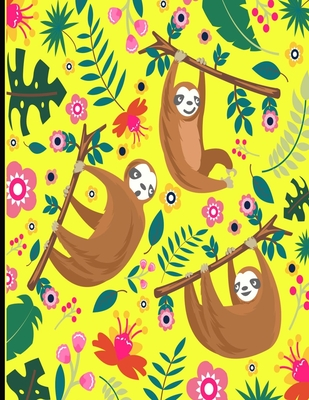 This Is My Super Cute Sloth Sketch Book: Yellow Cover Sloth Sketch Book With 110 Pages. Sloth Drawing Pad For Adults & Kids Sketchbook. Draw, Sketch & Cover Image