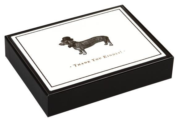 Alice Scott Vintage Prints Dapper Dachshund Luxe Thank You Notes Cover Image
