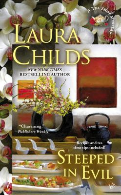 Steeped in Evil (A Tea Shop Mystery #15) Cover Image
