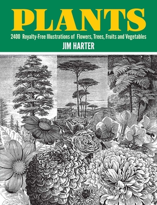 Plants: 2,400 Royalty-Free Illustrations of Flowers, Trees, Fruits and Vegetables (Dover Pictorial Archive) Cover Image