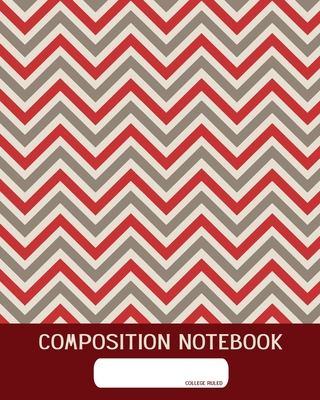 Composition Notebook: College Ruled - Geometric Red - Back to School Composition Book for Teachers, Students, Kids and Teens - 120 Pages, 60 cover