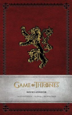Game of Thrones: House Lannister Ruled Notebook Cover Image