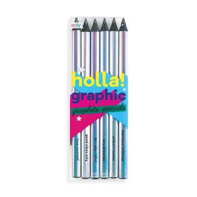 Holla Graphic Graphite Pencils - Set of 6 Cover Image