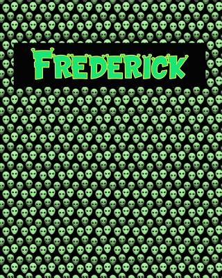 120 Page Handwriting Practice Book with Green Alien Cover Frederick: Primary Grades Handwriting Book Cover Image
