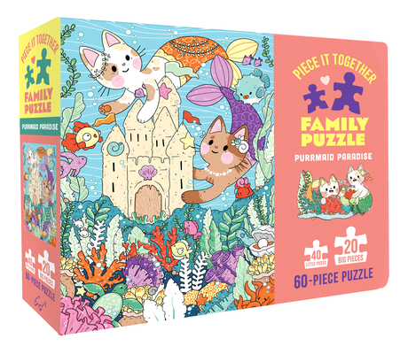 Piece It Together Family Puzzle: Purrmaid Paradise: (60-Piece Puzzle for Kids and Toddlers Ages 2–5. Cat and Kitty Puzzle Artwork) Cover Image