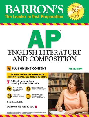 Barron's AP English Literature and Composition with Online Tests (Barron's Test Prep) Cover Image