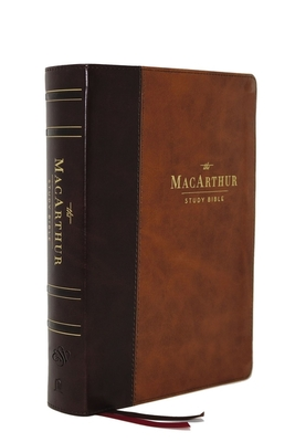 Cover for The Esv, MacArthur Study Bible, 2nd Edition, Leathersoft, Brown, Thumb Indexed