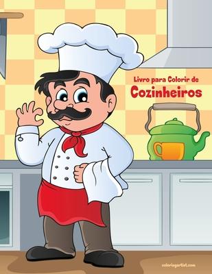 Livro para Colorir de Cozinheiros Cover Image
