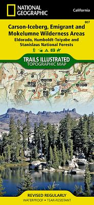 Carson-Iceberg, Emigrant, and Mokelumne Wilderness Areas [Eldorado, Humboldt-Toiyabe, and Stanislaus National Forests] (National Geographic Trails Illustrated Map #807) Cover Image