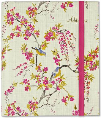 Blossoms & Bluebirds Large Address Book Cover Image
