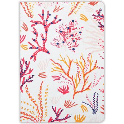 Coral Handmade Embroidered Journal Cover Image