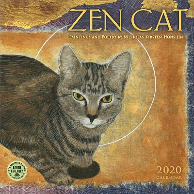 Zen Cat 2020 Wall Calendar: Paintings and Poetry by Nicholas Kirsten-Honshin Cover Image